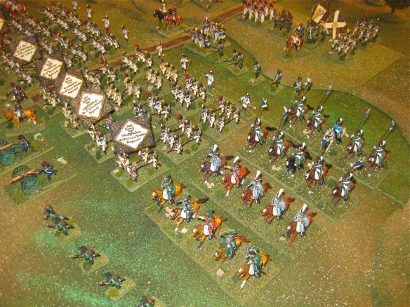 Left flank view of Westphalian army parade. Light cavalry, legere btn., and more line regiments.