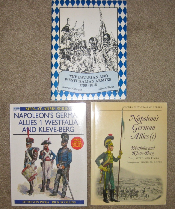 Basic source books on the Westphalian army. Lots of material on the Web too.
