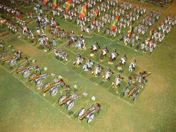 Kingdom of Italy Dragoon regiments, a horse batery and the powerful 8lb batteries.