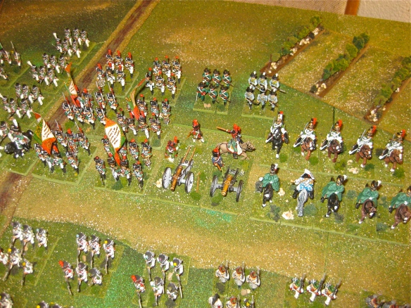 Kingdom of Italy Guard parades with their Grenadiers, Chasseurs, Velites, Cacciatori conscripts, Marines, Dragoons, Guard du Honor and two batteries.