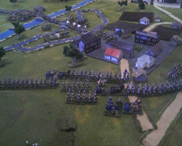 Having crossed the Saale river, the main Prussian force is released to attempt their exit strategy.