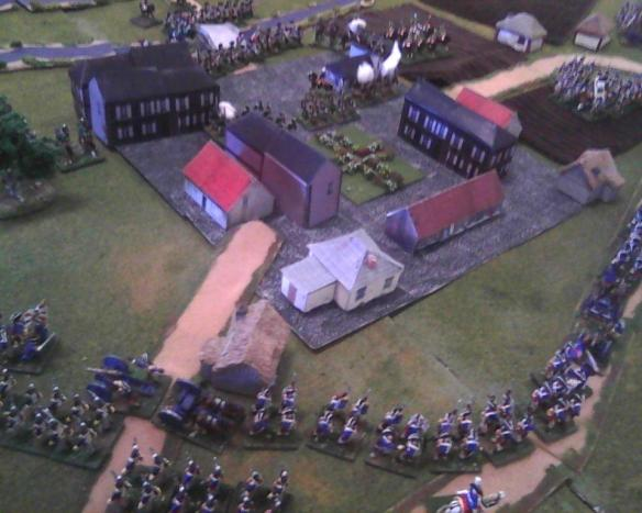 Frenchmen enter the outskirts of Halle while their light cavalry is confronted by the lead Prussian main body regiments. Deadly volley-fire cause Prussian fusilier losses.