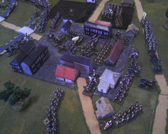 The galiant fusiliers make their stand in the marketplace as French pour into the town of Halle.