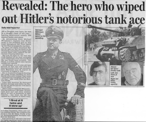 Daily Mail article on Joe Ekins.