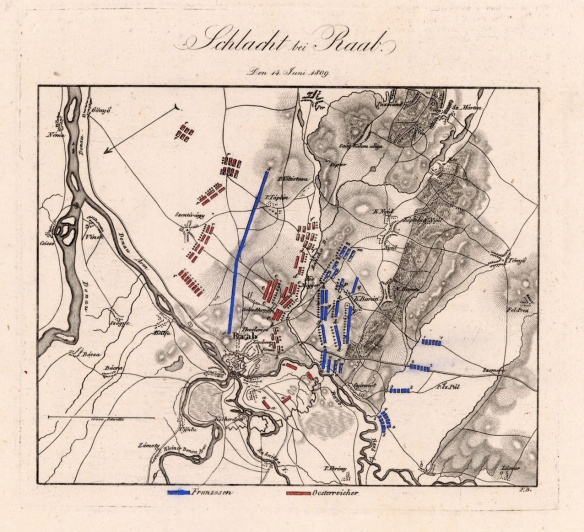 Old map of the Battle of Raab.