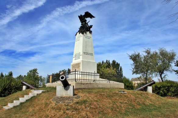 Raab Monument. The Austro-Hungarian army fought here against Napoleon in 1809 This was the famous Győr-Kismegyer battle The monument was built in 1897.