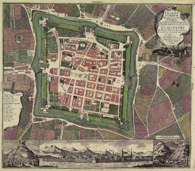 Klagenfurt map ca1735 Wargamerabbit