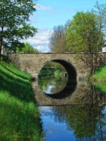 St Martin bridge over the Lend Kanal.