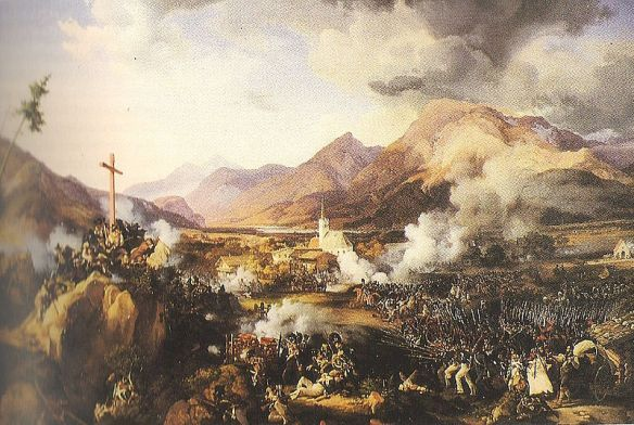 Battle of Worgl 1809 painting by Peter von Hess.
