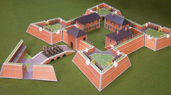 Paper Terrain model of Vauban fortress. Produced in several scales from 6mm to 28mm.