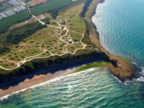 Point du Hoc today. The bombardment shell holes still very evident.