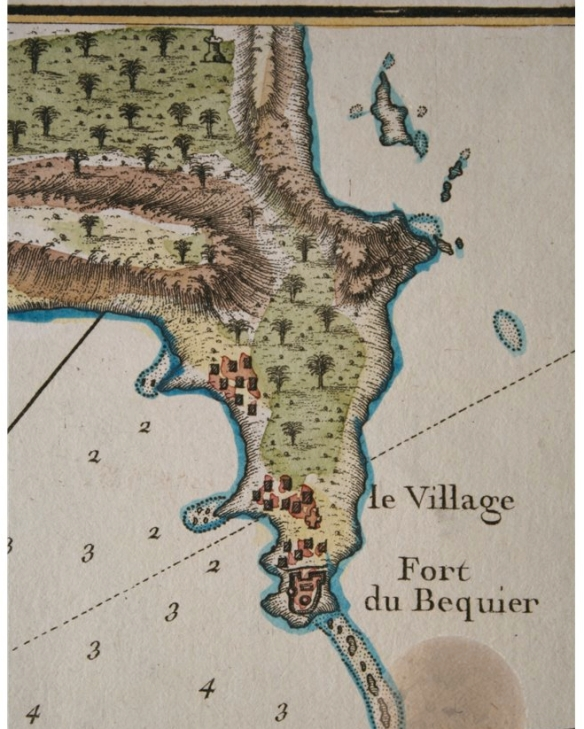 Fort du Bequier (Aboukir) drawn by J N Bellin 1754