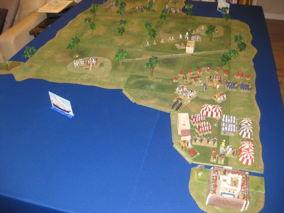 Scenario tabletop for the forthcoming Battle of Aboukir 1799 game.