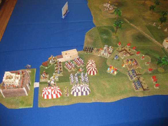 The Ottoman positions at scenario start.