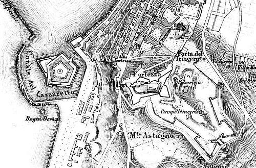 Map of cittadella Ancona