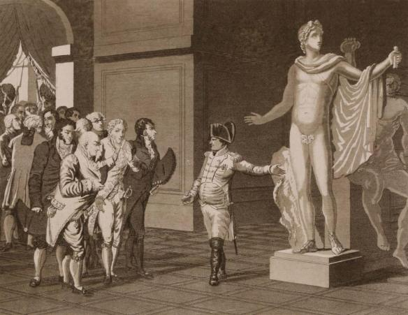 Bonaparte displaying the Italian artwork in Paris.