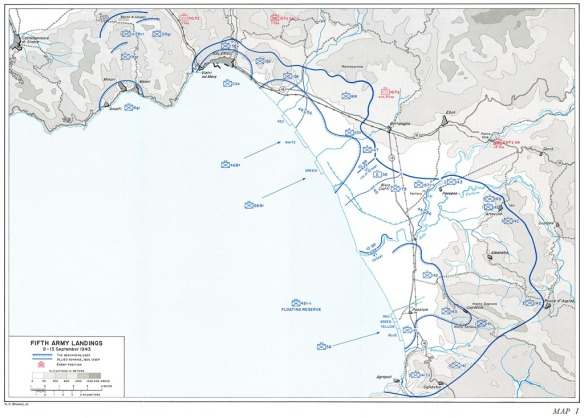 Fifth Army Landing Beaches Salerno 9-13 Sept