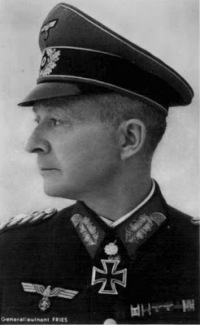 General of Panzertruppe Walter Fries, commander of the 29th Panzer Grenadier Division.