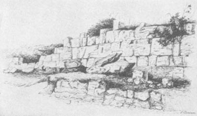 paestum-roman-town-wall
